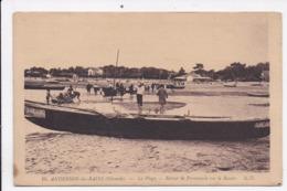 CP 33 ANDRENOS LES BAINS La Plage Retour De Promenade Sur Le Bassin - Andernos-les-Bains