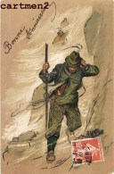 BELLE CPA GAUFREE : ILLUSTRATEUR ALPINISME MONTAGNE SPORT MONTAGNE ALPINISTE MONT-BLANC ALPES - Illustrateurs & Photographes