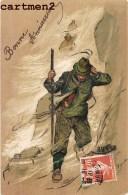 BELLE CPA GAUFREE : ILLUSTRATEUR ALPINISME MONTAGNE SPORT MONTAGNE ALPINISTE MONT-BLANC ALPES - Illustratoren & Fotografen