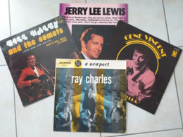 RAY CHARLES, GENE VINCENT, JERRY LEE LEWIS, BILL HALEY LOT DE 4 X 33 TOURS - Rock