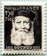 N° Yvert & Tellier 601 - Timbre De France (Année 1944) - MNH - Cinquantenaire Mort Compositeur Charles Gounod - Nuovi