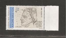 France, 2682a, 2682, Variété : Bleu Foncé ABSENT, Neuf **, TTB, André Breton, Poète - Variétés: 1990-99 Neufs