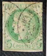 FRANCE - COLONIES - EMISSIONS GENERALES - OBLITERATION MARTINIQUE - 1872 - YT 17 - CERES - Cérès