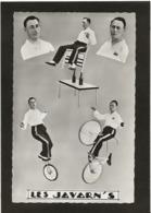 CPA Cirque Clown Circus Cirk Non Circulé Vélo Bicyclette Les Javarn's - Circus