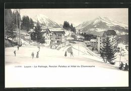 AK Leysin, Le Patinage, Pension Plaettaz Et Hotel Du Chamossaire - VD Vaud