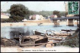 Bry Sur Marne Bords De Marne Le Pont De Bry Colorisée Cad 19 Juillet 1910  Voir Explic. - Bry Sur Marne