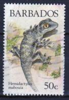 Barbados Single 50c Stamp From The 1988 Lizards Of Barbados Series. - Barbados (1966-...)