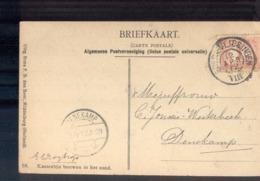 Breda Vlissingen VIII Grootrond - Denekamp Langebalk - 1912 - Marcophilie