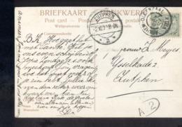 Arnhem Oldenzaal VIII Grootrond - Zutphen Langebalk - 1907 - Marcophilie