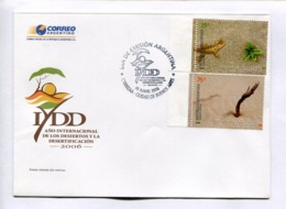 AÑO INTERNACIONAL DE LOS DESIERTOS Y LA DESERTIFICACION. DESERT . ARGENTINA 2006 SOBRE PRIMER DIA ENVELOPE FDC -LILHU - Environment & Climate Protection