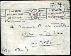 LETTRE EN PROVENANCE DE PARIS - 1939 - FRANCHISE MILITAIRE - ÉCOLE POLYTECHNIQUE - - Briefmarken