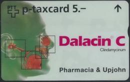 LZ-/-074--   SUPERBE Carte PRIVÉE PHARMACIA & UPJOHN , TRES  PEU COURANTE ,  COTE 40.00 €, TIRAGE 1500 EXEMPLAIRES - Suiza