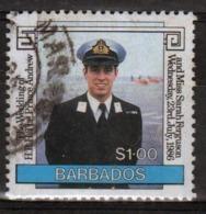 Barbados Single $1 Stamp From The 1986 Royal Wedding Series. - Barbados (1966-...)