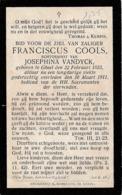 Geel, Gheel, 1911, Franciscus Cools, Vandyck - Images Religieuses