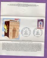 Enveloppe Thiaude Premier Jour 50 Eme Anniversaire De La Flamme Sous L Arc De Triomphe 10 Nov 1973 Paris  - - Monumentos