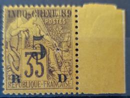 INDOCHINE 1889 - MLH - YT 2 - 5c Overprint - Neufs