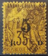 INDOCHINE 1889 - Canceled - YT 2 - 5c Overprint - Indochina (1889-1945)