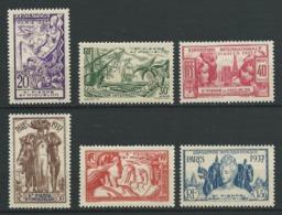SAINT PIERRE ET MIQUELON 1937 . Série  N°s 160 à 165 . Neufs  ** (MNH) - St.Pierre Et Miquelon