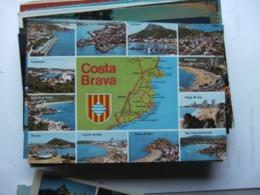 Spanje Espana Spain Cataluna Girona Costa Brava With Several Pictures - Gerona