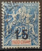 INDOCHINE 1908 - Canceled - YT 23 - 15c Overprint - Indochina (1889-1945)