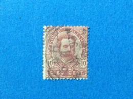 1891 ITALIA REGNO UMBERTO I FRANCOBOLLO USATO STAMP USED 10 CENTESIMI DIECI - 1878-00 Humbert I