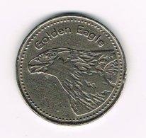 // TOKEN GOLDEN EAGLE  LIECHTENSTEIN - Pièces écrasées (Elongated Coins)