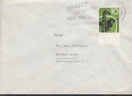 BRD 288 EF, Auf Ortsbrief, Mit Stempel: Krefeld 30.6.1958 - BRD