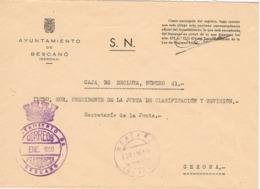 34023. Carta S.N. Franquicia Ayuntamiento BESCANÓ (Gerona) 1960. Fechador. Caja Recluta - 1931-Hoy: 2ª República - ... Juan Carlos I