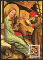 Germany Maximum Card Maxicard Christmas 1982 Nativity Detail From St Peter Altar Hamburg Master Bertram - Christmas