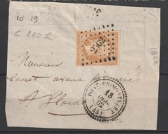 Petit Chifre Pont De Montvert 2502 Datée Du 18 Octobre 1862 Indice 20 - Storia Postale (Francobolli Sciolti)