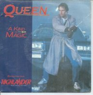 """45 Tours SP -  QUEEN   - EMI 2011167   """" A KID OF MAGIC """" + 1 ( 1ère Pochette ) - Vinyl Records"""