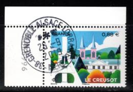 France  2019.Le Creusot.Cachet Rond Gomme D'origine - Frankreich