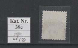 DR MNr. 39 C Gest. Geprüft - Used Stamps