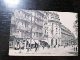 PARIS FRANCE - BOULEVARD SAINT MICHEL ET LYCEE SAINT LOUIS - TRAVELLED 1922 - France