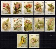 MBP-BK2-023-2 MINT ¤ GUYANA 10w 1985 OUT OF SET - MINT ¤ FLOWERS OF THE WORLD - ORCHIDEE - FLEURS BLÜMEN BLOEMEN - Orchids