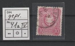DR MNr. 41 A Plf. IV Gest. Geprüft - Used Stamps