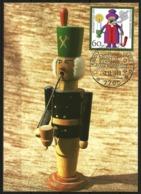 Germany Maximum Card Maxicard Christmas 1990 Raeuchermaennchen German Incense Smoker Christkindle Markt Randolfzell - Christmas
