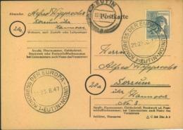 "1947, ""KONGRESS DER EUROPA-UNION"" In Eutin - Europa-CEPT"