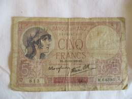 France: 5 Francs 1939 - 1871-1952 Antichi Franchi Circolanti Nel XX Secolo
