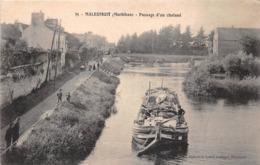 """¤¤   -    MALESTROIT   -   Passage D'un Chaland   -  Péniche """" ?? VIGOUROUX """" De Port-Launay    -   ¤¤ - Malestroit"""