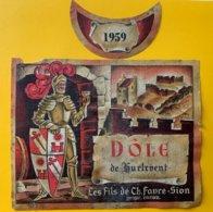 11694 - Dôle De Hurlevent  1959 Suisse - Etiquetas