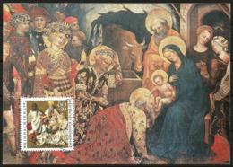 Germany Maximum Card Maxicard Christmas 1992 Adoration Of The Magi, Anbetung Der Weisen - Christmas