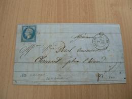CP 107 / NAPOLEON N° 14 SUR LETTRE - 1853-1860 Napoléon III