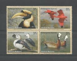 United Nations NY 2003 Endangered Birds Y.T. 906/909 ** - New York -  VN Hauptquartier