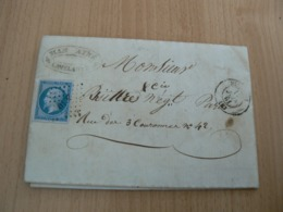 CP 107 / NAPOLEON N° 14 SUR LETTRE - 1853-1860 Napoleon III