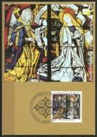 Germany Maximum Card Maxicard Christmas 1995 The Annunciation, Mariae Verkuendigung Stained Glass Window Augsburg - Christmas