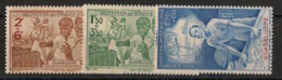 Guadeloupe - 1942 - Poste Aérienne PA N°Yv. 1 à 3 - PEIQI - Neuf Luxe ** / MNH / Postfrisch - Guadeloupe (1884-1947)