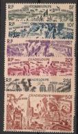 Guadeloupe - 1946 - Poste Aérienne PA N°Yv. 7 à 12 - Tchad Au Rhin - Neuf Luxe ** / MNH / Postfrisch - Guadeloupe (1884-1947)