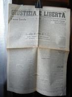 (G18) QUOTIDIANO GIUSTIZIA E LIBERTA' GIà FOGLIO CLANDESTINO DELLE FORMAZIONI PARTIGIANE ANNO II SABATO 5 MAGGIO 1945 - Italiano