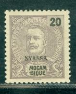 1898 King Carlos I,NYASSA/Mozambique,Mi.18 - 20 R,MLH - Nyassaland